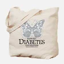Diabetes Butterfly Tote Bag