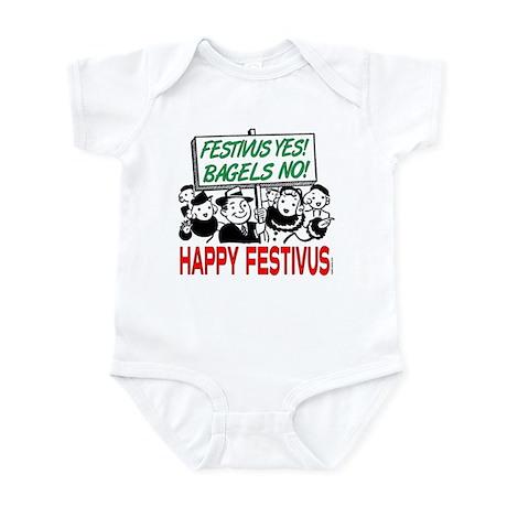 Festivus Yes! Bagels No! Infant Bodysuit