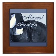 Dressage Musical Freestyle Note Framed Tile