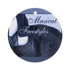 Dressage Musical Freestyle Note Ornament (Round)