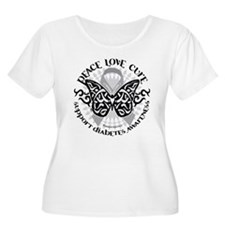 Diabetes Butterfly Tribal T-Shirt