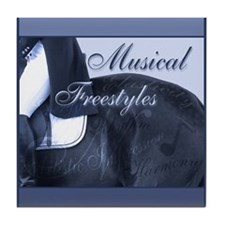 Dressage Musical Freestyle Note Tile Coaster