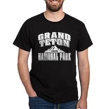 Grand Teton Old Style White T-Shirt