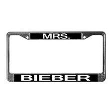Mrs. Bieber License Plate Frame