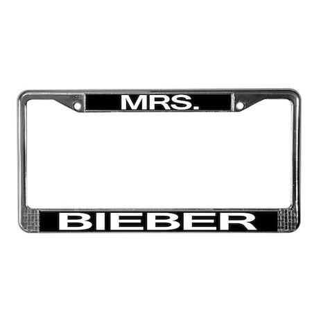 Mrs. Bieber License Plate Frame