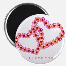 """Two Hearts (Pink)"" Magnet"