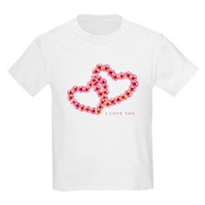 """""""Two Hearts (Pink)"""" Kids T-Shirt"""