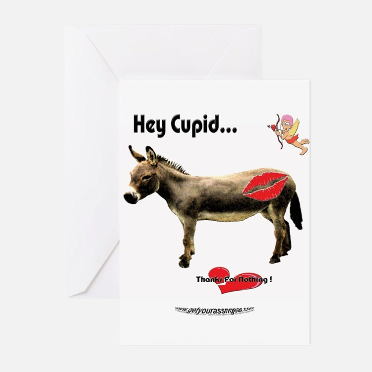 Hey Cupid..Kiss My ASS! Greeting Cards (Package of