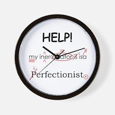 Perfectionist Editor Wall Clock