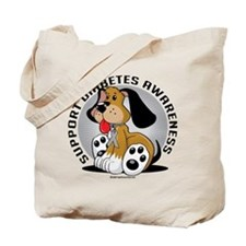 Diabetes Dog Tote Bag