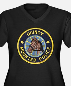 Quincy Mounted Police Women's Plus Size V-Neck Dar