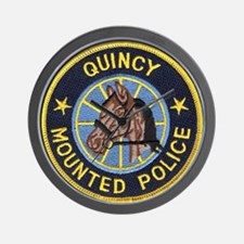 Quincy Mounted Police Wall Clock