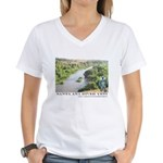 Santa Ana River Yeti Women's V-Neck T-Shirt