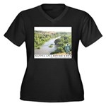 Santa Ana River Yeti Women's Plus Size V-Neck Dark