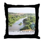 Santa Ana River Yeti Throw Pillow
