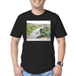Santa Ana River Yeti Men's Fitted T-Shirt (dark)