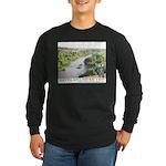Santa Ana River Yeti Long Sleeve Dark T-Shirt