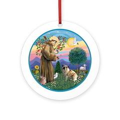 St Francis - English Bulldog 3 Ornament (Round)