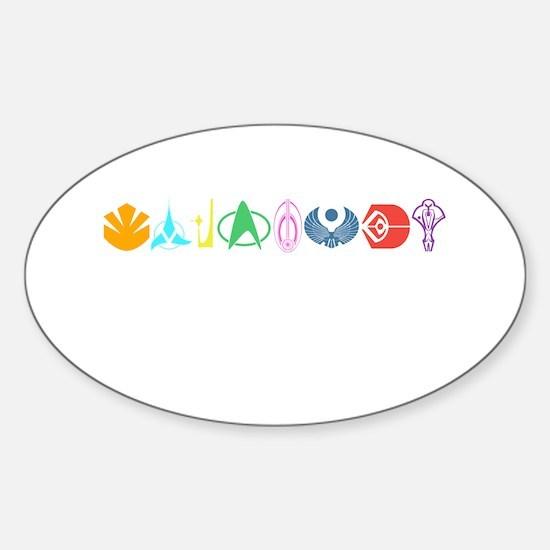 Funny Klingon symbol Sticker (Oval)