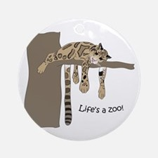 Clouded Leopard #2 Ornament (Round)