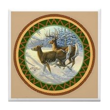 White Tail Deer Tile Coaster Tile Coaster