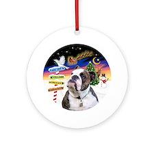 Xsigns-English Bulldog (br/w) Round Ornament