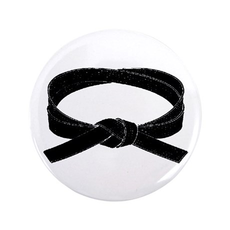"Black Belt 3.5"" Button"