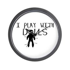 Play With Dolls Wall Clock