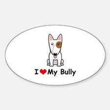 Bull Terrier Sticker (Oval)