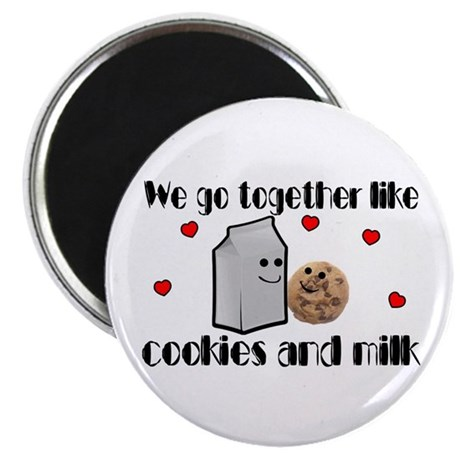 """Cookies And Milk 2.25"""" Magnet (10 pack)"""