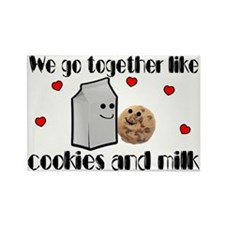 Cookies And Milk Rectangle Magnet