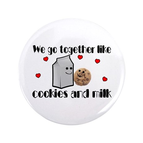 """Cookies And Milk 3.5"""" Button (100 pack)"""