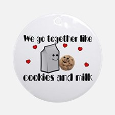 Cookies And Milk Ornament (Round)