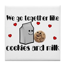 Cookies And Milk Tile Coaster