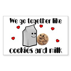 Cookies And Milk Sticker (Rectangle 50 pk)