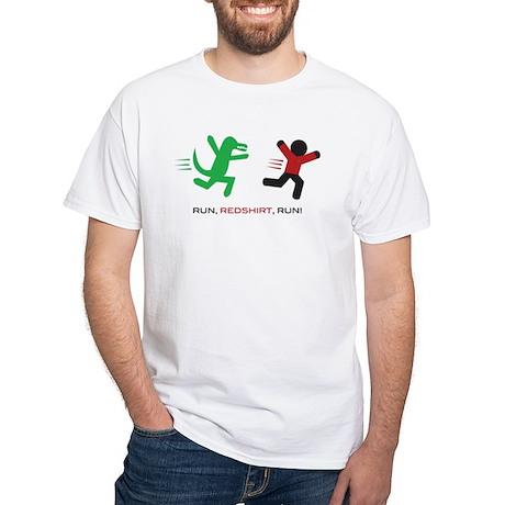 Run, Redshirt, Run! White T-Shirt