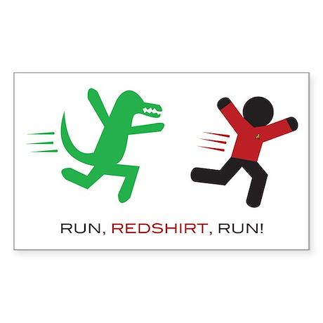 Run, Redshirt, Run! Sticker (Rectangle)