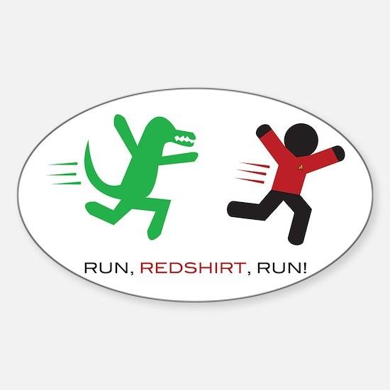 Run, Redshirt, Run! Sticker (Oval)