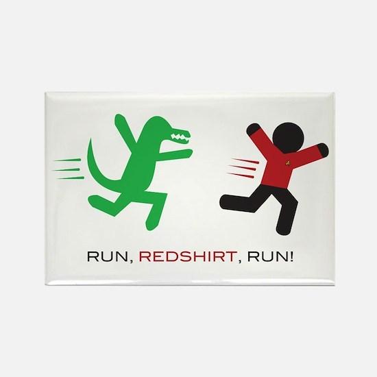 Run, Redshirt, Run! Rectangle Magnet