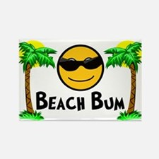 Beach Bum Rectangle Magnet