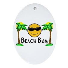 Beach Bum Ornament (Oval)