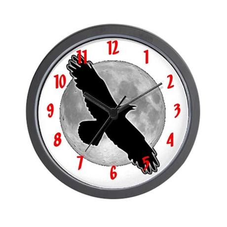 raven moon Custom Wall Clock