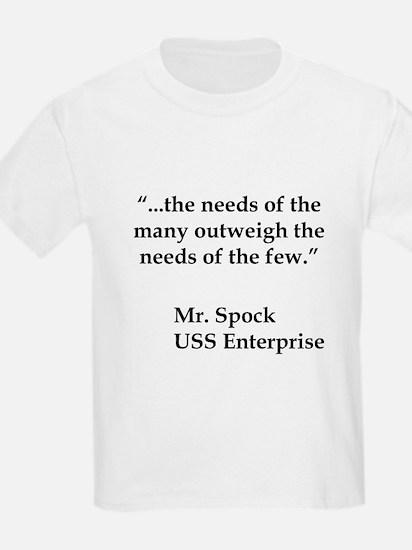 Star Trek Spock Quote T-Shirt