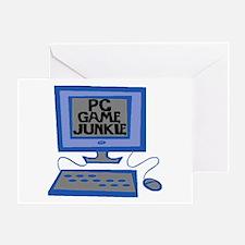 Game Junkie Greeting Card