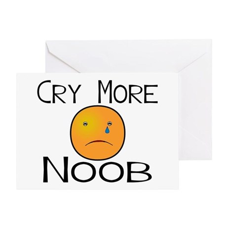 Cry Noob Greeting Card