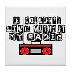 My Radio Tile Coaster
