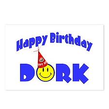 Happy Birthday Dork Postcards (Package of 8)