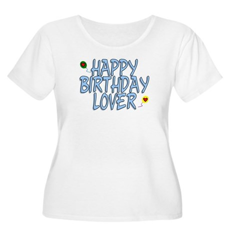 Happy Birthday Lover Women's Plus Size Scoop Neck