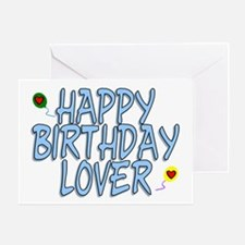 Happy Birthday Lover Greeting Card