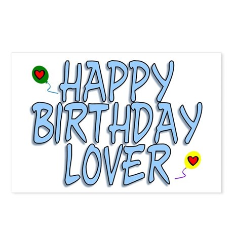 Happy Birthday Lover Postcards (Package of 8)
